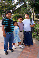 Family from El Salvador visiting Santa Rosa de Copan, Honduras.