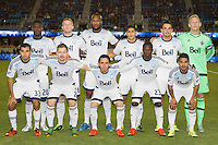 San Jose, CA - Saturday, October 3, 2015: The San Jose Earthquakes tie Vancouver Whitecaps FC 1-1 at Avaya Stadium.