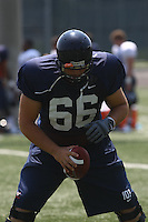 Virginia center John Maghamez  during open spring practice for the Virginia Cavaliers football team August 7, 2009 at the University of Virginia in Charlottesville, VA. Photo/Andrew Shurtleff