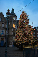 Christmas Tree in Dusseldorf Market Square, Germany