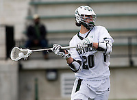 Collin Finnerty (20) of Loyola passes the ball at the Ridley Athletic Complex in Baltimore, MD.  Loyola defeated Georgetown, 11-6.