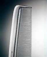POLYMERS: MATERIALS from LARGE MOLECULES<br /> Acrylic Comb<br /> The glasslike acrylic comb has inflexible, unbranched and unaligned chain molecules.