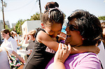 Marily Martinez of Rancho Cordova congratulates her daughter Monica, 6, on being selected for the Sacramento Ballet's Nutcracker production on Sunday, September 10, 2006. (Photo by Max Whittaker)