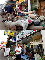 A tsunami brought much destruction to the popular tourist town of Patong, Phuket, a tsunami that struck Asia 26.12.2004.  Thai military and locals quickly started the task of cleaning up, in the hope of having the tourists return as soon as possible. ..Five years later Patong beach looks pretty much like it did before the tsunami hit.  However, Mr.Krishna, a local tailor, blames the tsunami for business being slower than before. .©Fredrik Naumann/Felix Features