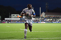 Semesa Rokoduguni of Bath Rugby runs in a second half try. Pre-season friendly match, between Leinster Rugby and Bath Rugby on August 26, 2016 at Donnybrook Stadium in Dublin, Republic of Ireland. Photo by: Patrick Khachfe / Onside Images