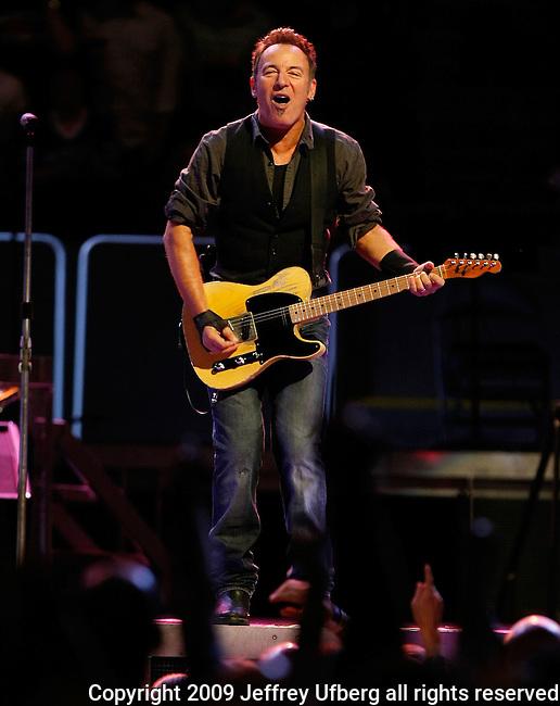 """November 7, 2009 New York: Singer / Musician Bruce Springsteen performs """"Madison Square Garden"""" on November 7, 2009 in New York."""