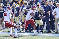 Annapolis, MD - December 3, 2016: Navy Midshipmen running back Calvin Cass Jr. (20) runs the ball during game between Temple and Navy at  Navy-Marine Corps Memorial Stadium in Annapolis, MD.   (Photo by Elliott Brown/Media Images International)