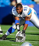 3 September 2009:  Detroit Lions' defensive tackle Chartric Darby warms up prior to a pre-season game against the Buffalo Bills at Ralph Wilson Stadium in Orchard Park, New York. The Lions defeated the Bills 17-6...Mandatory Photo Credit: Ed Wolfstein Photo