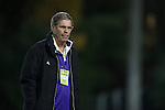 20 November 2014: JMU head coach Tom Martin. The University of North Carolina Tar Heels hosted the James Madison University Dukes at Fetzer Field in Chapel Hill, NC in a 2014 NCAA Division I Men's Soccer Tournament First Round match. UNC won the game 6-0.