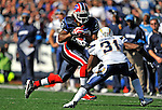 19 October 2008:  Buffalo Bills' running back Marshawn Lynch in action against the San Diego Chargers at Ralph Wilson Stadium in Orchard Park, NY. The Bills defeated the Chargers 23-14 and maintain their first place position in the AFC East with a 5 and 1 record...Mandatory Photo Credit: Ed Wolfstein Photo