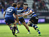Francois Louw of Bath Rugby in possession. European Rugby Challenge Cup Semi Final, between Stade Francais and Bath Rugby on April 23, 2017 at the Stade Jean-Bouin in Paris, France. Photo by: Patrick Khachfe / Onside Images