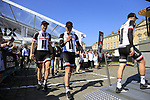Team Sunweb at the Team Presentation for the upcoming 115th edition of the Paris-Roubaix 2017 race held in Compiegne, France. 8th April 2017.<br /> Picture: Eoin Clarke | Cyclefile<br /> <br /> <br /> All photos usage must carry mandatory copyright credit (&copy; Cyclefile | Eoin Clarke)