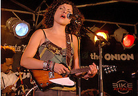 Singer, songwriter, violinist and guitarist Carrie Rodriguez performs at the Santa Monica Pier on Thursday, Aug. 23, 2007 as during the 23rd Annual Twilight Dance Series..