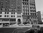 Pittsburgh PA - View of Liberty Avenue and Wood Street - 1956. View of the Clark, General Office and Gamble Buildings on Liberty Avenue.  Brady Stewart Studio occupied the 4th floor of the Gamble Building (far right).