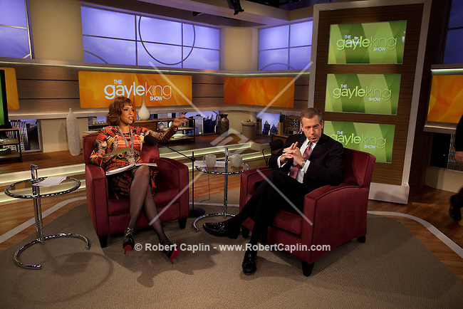 Network news anchor Brian Williams on the set of The Gayle King Show, on the Opera Network in New York City. ..Photo by Robert Caplin.