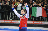 SHORT TRACK: TORINO: 15-01-2017, Palavela, ISU European Short Track Speed Skating Championships, Podium Overall Ladies, Sofia Prosvirnova (RUS), ©photo Martin de Jong