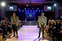 Hand Sewn by David Roil, New Zealand Eco Fashion Exposed, Eco Designer Runway at Notre Dame Performing Arts Centre, Lower Hutt, New Zealand on Saturday 26 July 2014. <br /> Photo by Masanori Udagawa. <br /> www.photowellington.photoshelter.com.