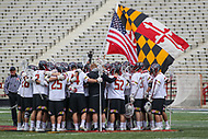College Park, MD - April 1, 2017: Maryland Terrapins before the game between Michigan and Maryland at  Capital One Field at Maryland Stadium in College Park, MD.  (Photo by Elliott Brown/Media Images International)