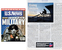 May 12, 2003 - Los Angeles, CA, USA - U.S. News and World report ran my photo of a man using his laptop on the beach in their May 12th, 2003 article entitled 'Going Mobile: Intel Bets Big On Making Wireless Computing Easier', and I guess they were right!.(Credit Image: © Marianna Day Massey/ZUMA Press)