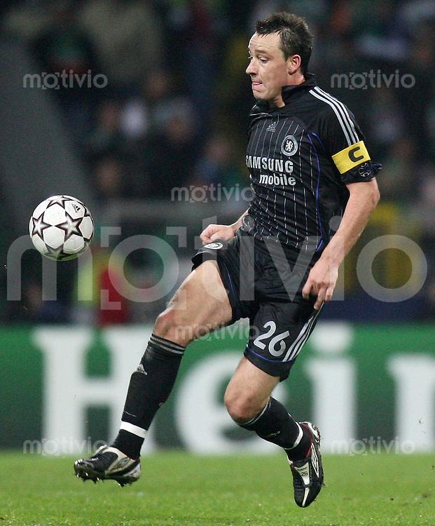 Fussball  Champions League  Gruppe A  Saison 2006/2007 John TERRY (Chelsea London), Einzelaktion am Ball