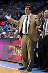 27 December 2014: UAB head coach Jerod Haase. The University of North Carolina Tar Heels played the University of Alabama Birmingham Blazers in an NCAA Division I Men's basketball game at the Dean E. Smith Center in Chapel Hill, North Carolina. UNC won the game 89-58.