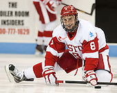 Ben Rosen (BU - 8) - The Boston University Terriers defeated the visiting Northeastern University Huskies 5-0 on senior night Saturday, March 9, 2013, at Agganis Arena in Boston, Massachusetts.