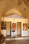 Greek Orthodox church interior Paliachora,   Aegina, Greek Saronic Islands