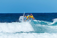 """Coolangatta, Queensland, Australia (Sunday February 13th 2011): Owen Wright (AUS) surfing for the Byron Bay club.  SNAPPER SURFRIDERS CLUB have confirmed their status as Australia's premier boardriding club by winning the 2011 Rhythm Kirra Teams Challenge in excellent 1m (3feet) surf at Duranbah Beach on the southern Gold Coast..It was Snapper's 9th win of this prestigious title, placing them well ahead of their closest rival Kirra who placed second..Today's victory was typical of this event, getting down to the very last surfer of their 8 man team to bring the victory home in a nail biting finish..Clint Kimmins was the Snapper surfer with all the pressure placed on him as the final surfer. The equation was simple, win the heat and win the title for Snapper, lose and the title would be won by either Merewether (NSW) or Kirra (Qld)... It was a see-sawing duel between Kimmins and Palm Beach Boardriders surfer Jeff Norris with multiple changes in the lead but in the end Kimmins won by just 0.23 of a point..""""That was the toughest heat I've surfed"""" said a relieved Kimmins after the heat.."""" Surfing for the team, I knew the situation and I just tried to concentrate on surfing my best but the pressure was there - knowing Parko and Deano and the whole rest of the team had done their job to get us to a winning position - it was tough but it feels great now - we're number one club!"""".Snapper's win was incredible as they started the event with 3 consecutive 2nd placings in their 8 surfer team and many thought they were gone in the early stages..However, their final 5 surfers brought home 5 consecutive wins and they stole the title..Their team and heat placing were as follows - Blake Ainsworth (2nd), Mitch Crews (2nd),  Jay Phillips (2nd), Ice Periera-Ryan (1st), Shaun Gossman (1st), Joel Parkinson (1st), Dean Morrison (1st) and Clint Kimmins (1st)... A number of outstanding ASP World Tour and former world tour surfers competed for the pride of their club today, lead by former tw"""