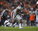Ole Miss' Cameron Whigham (55) at Jordan-Hare Stadium in Auburn, Ala. on Saturday, October 29, 2011. .