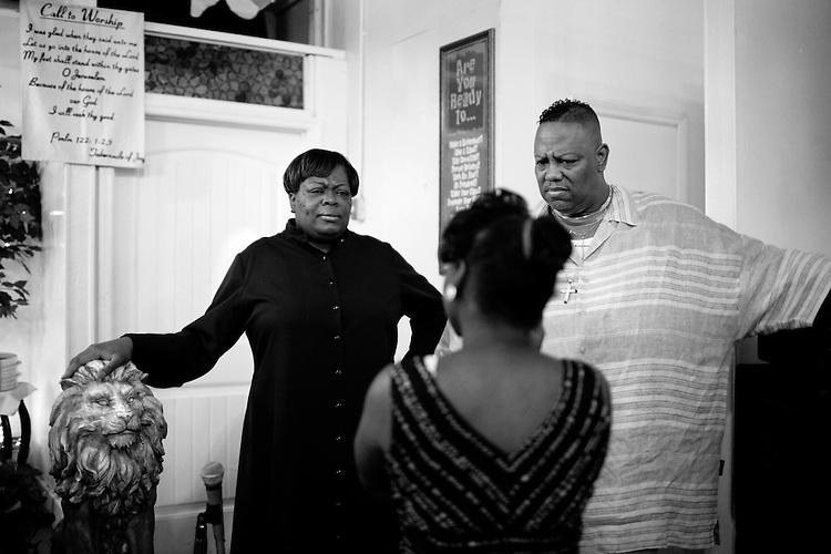 July 26, 2009. Durham, NC.. Tabernacle of Joy: corner Buchanan and West Chapel Hill Street.. Pastor Mark Verbal. Co-pastor Tonya Verbal