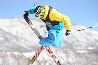 Aspen, Co - 28, JANUARY 2012 - Buttermilk Mountain: David Wise competing in Men's Ski SuperPipe Final during Winter X Games Aspen 2012..(Photo by Scott Clarke / ESPN Images)..- RAW FILE AVAILABLE -