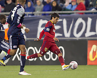 Real Salt Lake midfielder Javier Morales (11) brings the ball forward. Real Salt Lake defeated the New England Revolution, 2-1, at Gillette Stadium on October 2, 2010.
