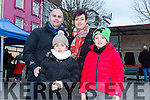 Enjoying the Christmas Lights in Listowel were Kayla Murphy, Conor Murphy, Seamus Murphy and Brid Murphy from Listowel
