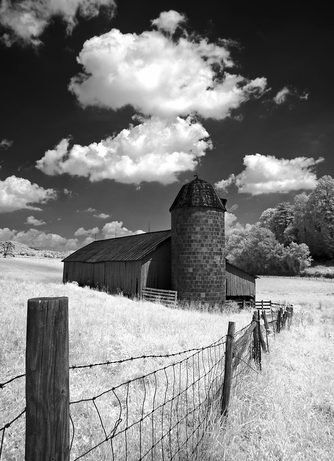 The old barn on Bundoran Farm in Albemarle County, VA.