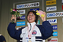 Satomi Suzuki, FEBRUARY 11, 2012 - Swimming : The 53rd Japan Swimming Championships (25m) Women's 100m Breaststroke Victory Ceremony .at Tatsumi International Swimming Pool, Tokyo, Japan. (Photo by YUTAKA/AFLO SPORT) [1040]