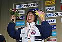 Satomi Suzuki, FEBRUARY 11, 2012 - Swimming : The 53rd Japan Swimming Championships (25m) Women's 100m Breaststroke Victory Ceremony .at Tatsumi International Swimming Pool, Tokyo, Japan. (Photo by YUTAKA/AFLO SPORT) [1040]