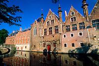 Along Steenhouwersdijk (canal), Brugge, Belgium