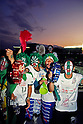 Verdy Kawasaki fans,..MAY 15, 1993 - Football :..J.League Opening Match between Verdy Kawasaki 1-2 Yokohama Marinos at National Stadium in Tokyo. Japan. (Photo by Katsuro Okazawa/AFLO)