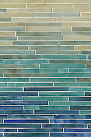 Tatami Mist, a jewel glass mosaic, is shown in Agate, Aquamarine, Turquoise and Peacock Topaz.