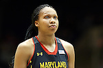 11 February 2013: Maryland's Alicia DeVaughn. The Duke University Blue Devils played the University of Maryland Terrapins at Cameron Indoor Stadium in Durham, North Carolina in an NCAA Division I Women's Basketball game. Duke won the game 71-56.