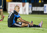 Eduardo reacts after missing the goal. The San Jose Earthquakes defeated the Philadelphia Unioin 1-0 at Buck Shaw Stadium in Santa Clara, California on September 15th, 2010.