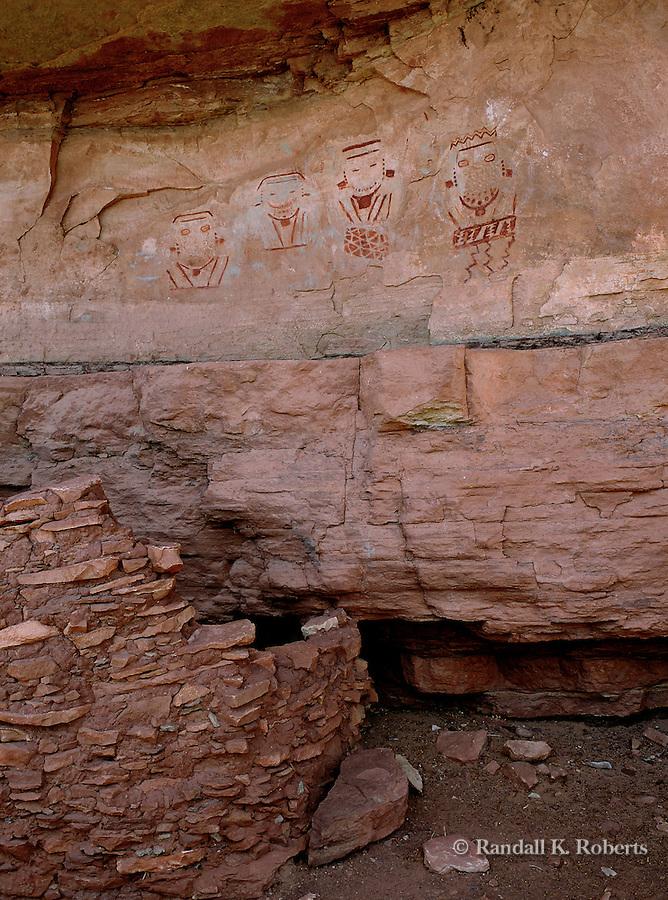 Four Faces Pictograph, Salt Creek Canyon, Canyonlands National Park, Utah