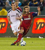 CARSON, CA - November 6, 2011: Real Salt Lake midfielder Kyle Beckerman (5) during the match between LA Galaxy and Real Salt Lake at the Home Depot Center in Carson, California. Final score LA Galaxy 3, Real Salt Lake 1.