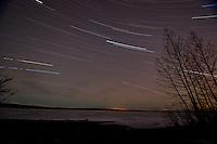 Skilak Lake star trails
