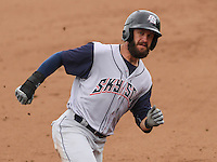 DES MOINES - May 2015: Colorado Springs Sky Sox outfielder Matt Long (12) during a Pacific Coast League game against the Iowa Cubs on May 11th, 2015 at Principal Park in Des Moines, Iowa.  Colorado Springs defeated Iowa 13-7.  (Brad Krause/Krause Sports Photography)