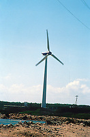 Windmills on Bonaire, NA<br /> Wind Turbine Style<br /> Renewable energy from eolian power. Windmills used for irrigation or local power generation