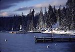 Homewood waterfront in winter