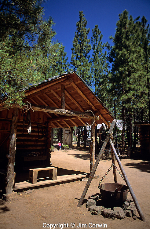 High Desert Museum historic camp display early settlers Bend Oregon State Central Oregon USA..