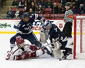 Adam Larkin (Yale - 2), Ryan Donato (Harvard - 16), Sam Tucker (Yale - 1) - The Harvard University Crimson defeated the Yale University Bulldogs 6-4 in the opening game of their ECAC quarterfinal series on Friday, March 10, 2017, at Bright-Landry Hockey Center in Boston, Massachusetts.