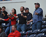 Ole Miss fans dance to Andrew Mistone's walkout song vs. Houston at Oxford-University Stadium in Oxford, Miss. on Sunday, March 11, 2012. Ole Miss won 11-3 to sweep the three-game series.